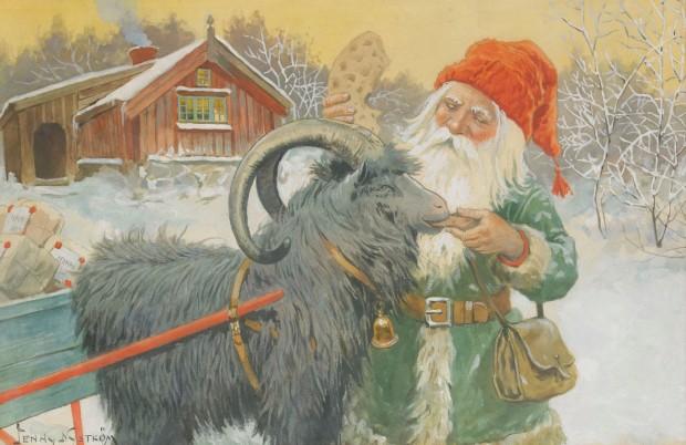 Babbo Natale (Jultomten) in un'illustrazione di Jenny Nyström